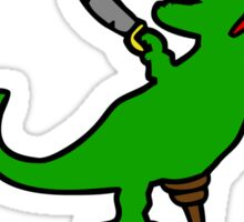 RAWR is Dinosaur for ARRR (Pirate Dinosaur) Sticker