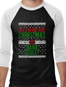 All I Want For Christmas (Dana Scully) Men's Baseball ¾ T-Shirt