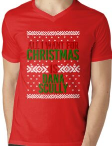 All I Want For Christmas (Dana Scully) Mens V-Neck T-Shirt