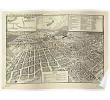 Panoramic Maps Bird's eye map of the city of Winchester Poster
