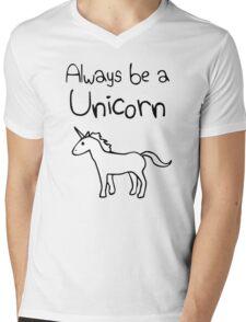 Always Be A Unicorn Mens V-Neck T-Shirt