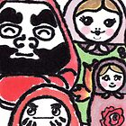 We.Are.Family. (Daruma Doll series) by dosankodebbie