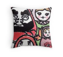 We.Are.Family. (Daruma Doll series) Throw Pillow