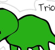 Triceratops Tricerabottom Sticker