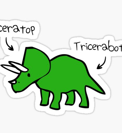 Triceratops Tricerabottom Sticker