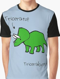 Triceratops Tricerabottom Graphic T-Shirt