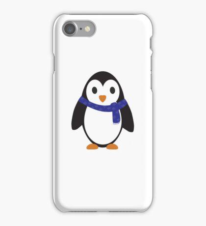 Blue Scarf Penguin iPhone Case/Skin