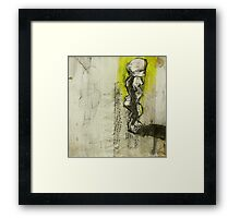 figure with flipper Framed Print