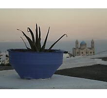 An afternoun in Paros Photographic Print
