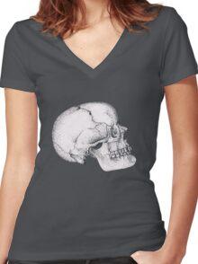 Wilbur Malone the Skull Women's Fitted V-Neck T-Shirt