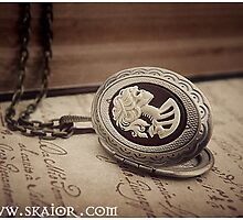 Gothic Victorian Zombie Cameo Necklace by SKAIOR Designs