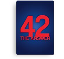 The Answer Canvas Print