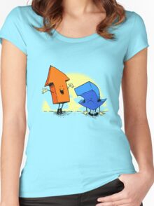the up and down show Women's Fitted Scoop T-Shirt