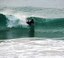 Surfing Late Afternoon Ocean Waves by alycanon