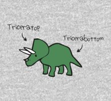 Triceratops Tricerabottom One Piece - Long Sleeve