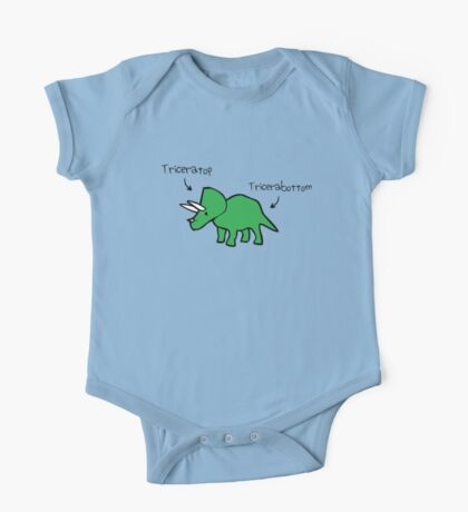 Triceratops Tricerabottom One Piece - Short Sleeve