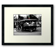 Burmese Tuk Tuk Framed Print