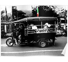Burmese Tuk Tuk Poster
