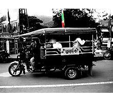 Burmese Tuk Tuk Photographic Print