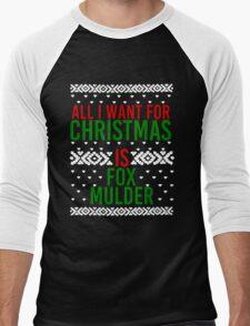 All I Want For Christmas (Fox Mulder) Men's Baseball ¾ T-Shirt