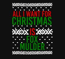All I Want For Christmas (Fox Mulder) Women's Fitted Scoop T-Shirt