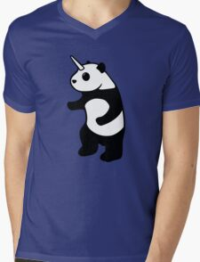 Pandicorn Mens V-Neck T-Shirt