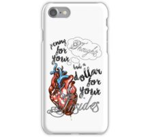 Penny for your Thoughts Lyrics iPhone Case/Skin