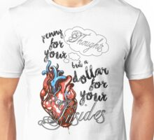 Penny for your Thoughts Lyrics Unisex T-Shirt