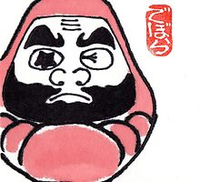 The Snowshoer (Daruma Doll series) by dosankodebbie