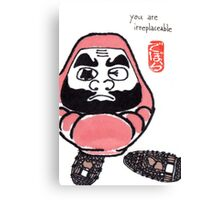 The Snowshoer (Daruma Doll series) Canvas Print