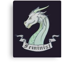 FEMINIST - Light Dragon Canvas Print