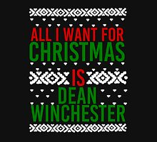 All I Want For Christmas (Dean Winchester) Women's Fitted Scoop T-Shirt