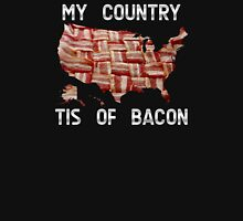 My Country Tis Of Bacon - USA - American Bacon Map Unisex T-Shirt