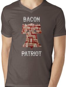 Bacon Patriot - American Liberty Bell - United States of America Mens V-Neck T-Shirt
