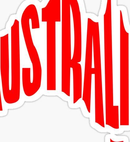Australia in the shape of Australia Sticker