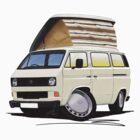 VW T25 / T3 White (Open Pop Top) by Richard Yeomans