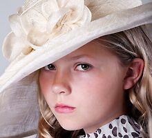 Portrait of beautiful girl in hat by torishaa