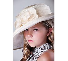 Portrait of beautiful girl in hat Photographic Print
