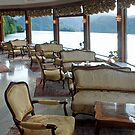 A view from the lounge on lake Bled - Slovenia by Arie Koene