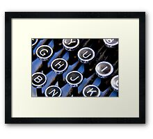 Type from a bygone era. Framed Print