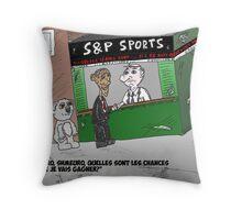 Caricature de Obama pour les News Options Binaires Throw Pillow