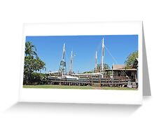 Pearling Lugger, Broome, Western Australia Greeting Card