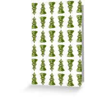 Dainty little christmas trees Greeting Card