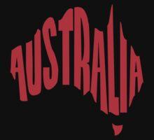 Australia in the shape of Australia by jezkemp