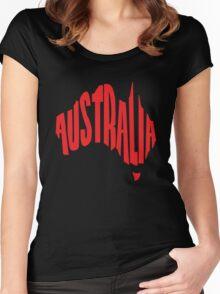 Australia in the shape of Australia Women's Fitted Scoop T-Shirt