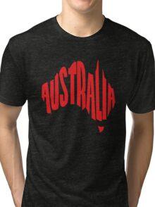 Australia in the shape of Australia Tri-blend T-Shirt