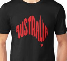 Australia in the shape of Australia Unisex T-Shirt
