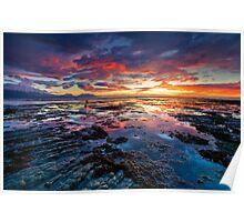 Kaikoura Dawn Blush Poster