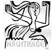 German expressionist etching - Nachtrage Poster