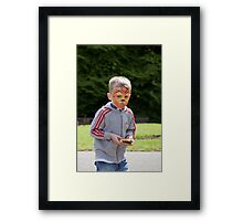 I don't want to share my burger! Framed Print